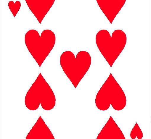 interprétation du 9 de coeur en association avec les trèfles