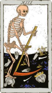 La Mort cartomancie tirage Tarot de Marseille