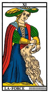 carte tarot de marseille la force cartomancie