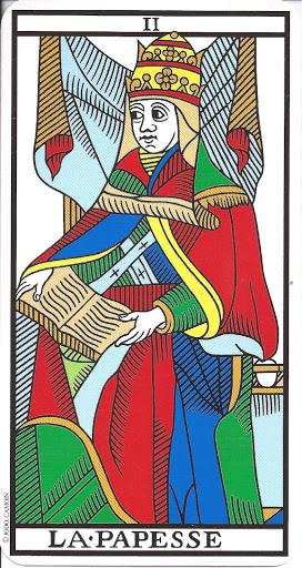 la papesse carte tarot de marseille