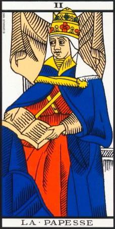 la papesse carte de tarot de marseille